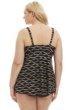 Always For Me by Penbrooke Black and Gold Sand Dune Plus Size Tankini Top