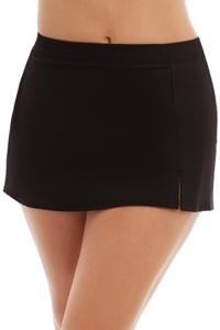 Caribbean Joe Plus Size Side Slit Swim Skirt