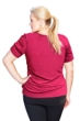 Always For Me Magenta Plus Size Active Peplum T-Shirt