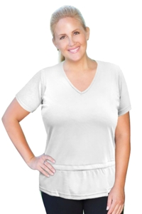 Always For Me White Plus Size Active Peplum T-Shirt