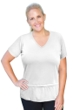 Always For Me White Plus Size Active Peplum T-Shirt