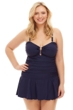 Always For Me Navy Plus Size Marina Swimdress
