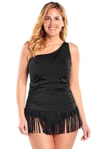 Control Bettie Fringe Plus Size One Piece Swimsuit