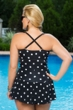 Always For Me Black and White Plus Size Daphne Swimdress