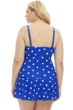 Always For Me Royal and White Plus Size Daphne Swimdress