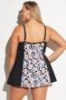 Fit 4U Wallflower Plus Size Tie Front Swimdress