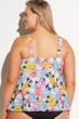 Fit 4U Flower Child Plus Size Tankini Top