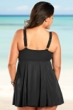 Always For Me Black Plus Size Raven Swimdress