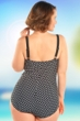 Always For Me Black and White Femme Fatale Plus Size Underwire Swimdress