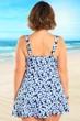 Always For Me Black and Blue Sea Spray Plus Size Swimdress