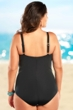 Always For Me Black and Blue Cabana Plus Size Underwire One Piece Swimsuit