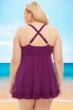 Always For Me by Fit 4U Blackberry Plus Size Two Piece Swimdress Set