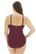 Raisins Curve Maroon Barbados Plus Size Lace High Neck One Piece Swimsuit