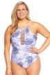 Raisins Curve Palm Pacifica Plus Size Ola Lace High Neck One Piece Swimsuit
