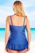 Always For Me Denim Plus Size Isabella Tankini Top with Matching Tankini Bottom