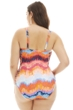 Kenneth Cole Tidal Wave Plus Size Macrame Side Plunge One Piece Swimsuit