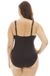 Kenneth Cole Black Ready to Ruffle Plus Size Shirred Halter One Piece Swimsuit