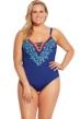 La Blanca Midnight Leaf It To Me Plus Size Keyhole One Piece Swimsuit