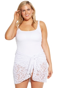 Always For Me White Plus Size Escape Sarong Cover Up