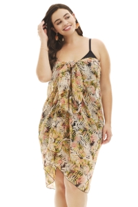 Always For Me Summer Fern Plus Size Pareo Sarong Cover Up