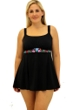 Always For Me Fit 4U Swim Folklore Pastel Plus Size Fit 4 Ur Thighs Embroidered Swimdress