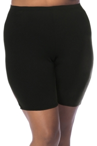 Always For Me Fit 4U Swim Black Plus Size Fit 4 Ur Hips Swim Bike Short