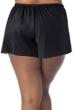 Always For Me Fit 4U Swim Black Plus Size Fit 4 Ur Hips Drawstring Swim Short