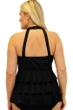 Always For Me Fit 4U Swim Folkloric Bright Plus Size Fit 4 Ur Tummy Embroidered Triple Tiered High Neck Tankini Top