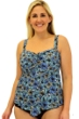 Always For Me Fit 4U Swim Chi Chi Plus Size Fit 4 Ur D's and E's Flared Bandeau Tankini Top