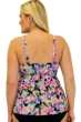 Always For Me Fit 4U Swim Love Story Coral Plus Size Fit 4 Ur Hips High Neck Flyaway Tankini Top