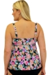 Always For Me Fit 4U Swim Love Story Coral Plus Size Fit 4 Ur Tummy Waterfall Tankini Top