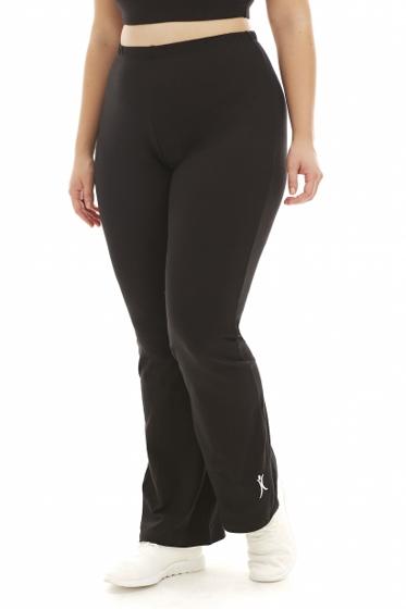 A Big Attitude Black Plus Size Yoga Pant