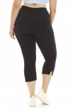 A Big Attitude Black Plus Size Capri Legging