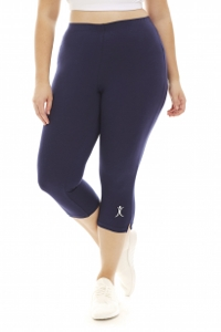 A Big Attitude Navy Plus Size Capri Pant