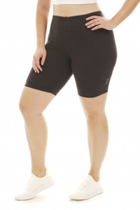 A Big Attitude Charcoal Plus Size Bike Short