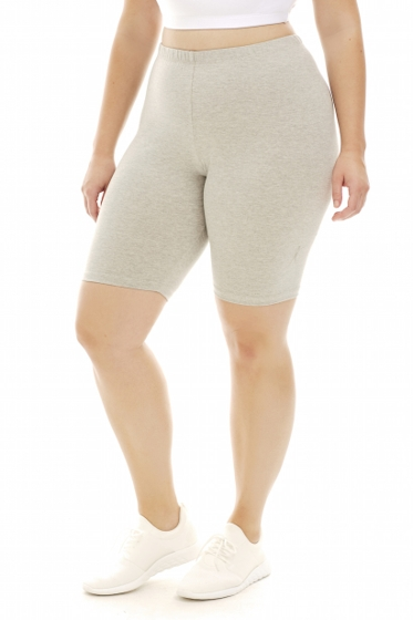 A Big Attitude Grey Plus Size Bike Short