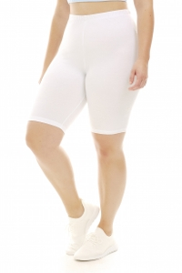 A Big Attitude White Plus Size Bike Short