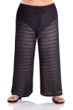 Jordan Taylor Arrow Chevron Black Plus Size Textured Tie Front Pull On Cover Up Pant