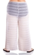 Jordan Taylor Arrow Chevron White Plus Size Textured Tie Front Pull On Cover Up Pant