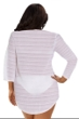 Jordan Taylor Arrow Chevron White Plus Size Textured V-Neck Lace Bell Sleeve Cover Up Tunic