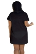 Jordan Taylor Black Braided Chevron Plus Size Zip Up Hoodie Cover Up Dress with Pockets