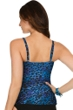 Miraclesuit Blue Purr-Fection Plus Size Paramore Underwire Tankini Top