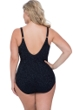 Profile by Gottex Shalimar Black Plus Size Lace Strappy V-Neck One Piece Swimsuit