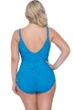 Profile by Gottex Shalimar Peacock Plus Size Lace Strappy V-Neck One Piece Swimsuit