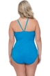 Profile by Gottex Shalimar Peacock Plus Size Lace Strappy High Neck One Piece Swimsuit