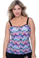 Profile by Gottex Fantasia Plus Size Shirred Underwire Tankini Top