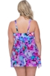 Profile by Gottex Pocket Full of Posies Plus Size V-Neck Flyaway One Piece Swimsuit