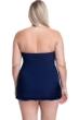 Profile by Gottex Tutti Frutti Navy Plus Size Cross Over Bandeau Strapless Swimdress
