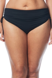 Beach House Black Plus Size Hayden Adjustable Side Tie Brief