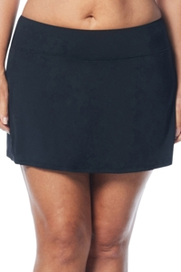 Beach House Black Plus Size Emma Swim Skort